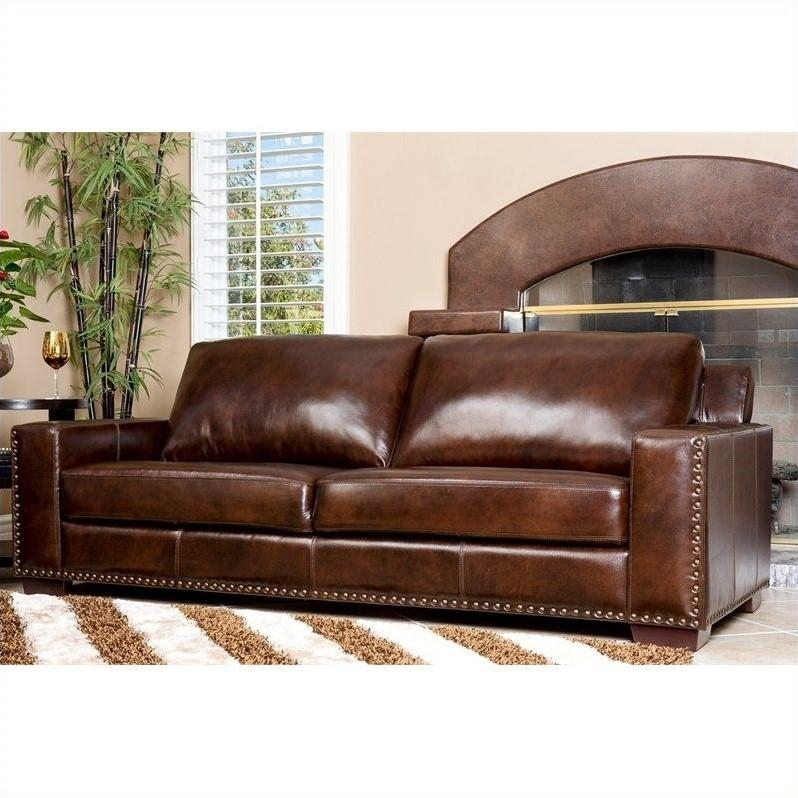 Abbyson Living Beverly Leather Sofa In Espresso – Sk 9060 Brn 3 Within Abbyson Living Sofas (View 9 of 20)