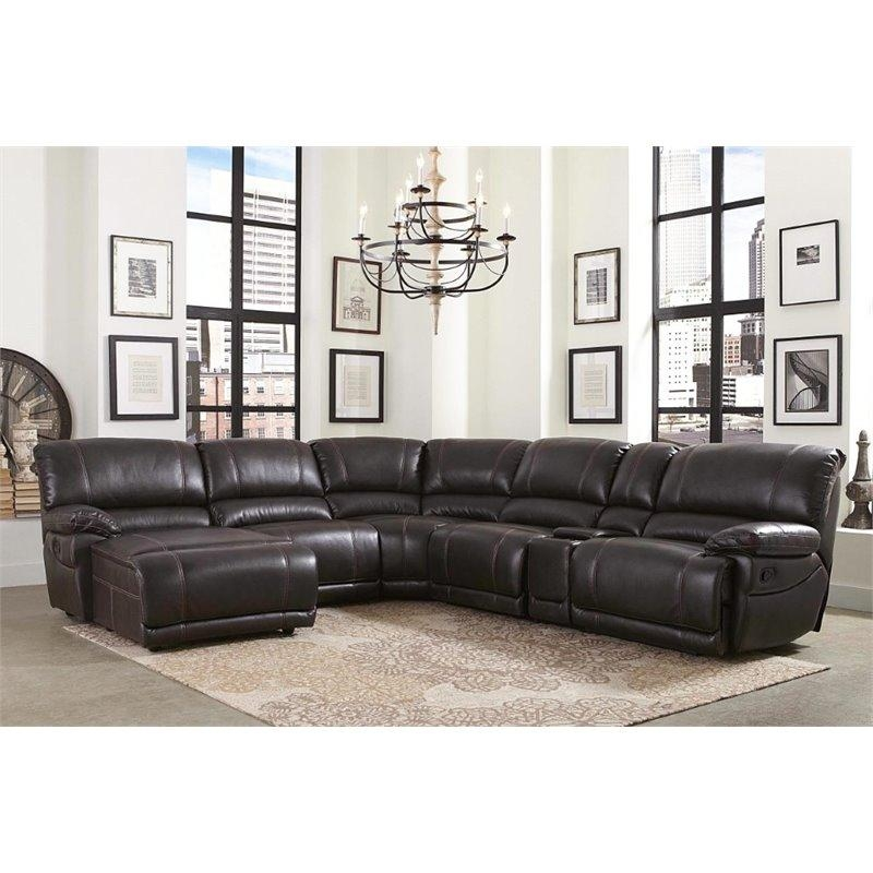Abbyson Living Denver 6 Piece Sectional In Brown – Ch 10623 Brn In Abbyson Living Sectional Sofas (Image 5 of 20)