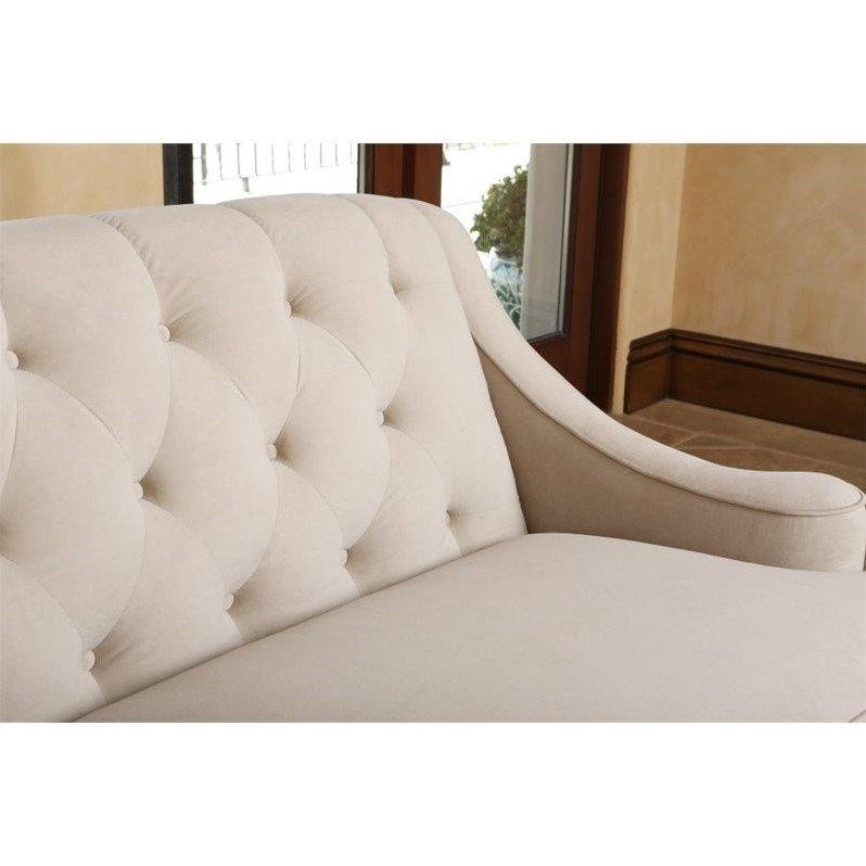 Abbyson Living Emily Tufted Sofa In Beige – Rl 1450 Bge 3 Within Abbyson Sofas (Image 7 of 20)