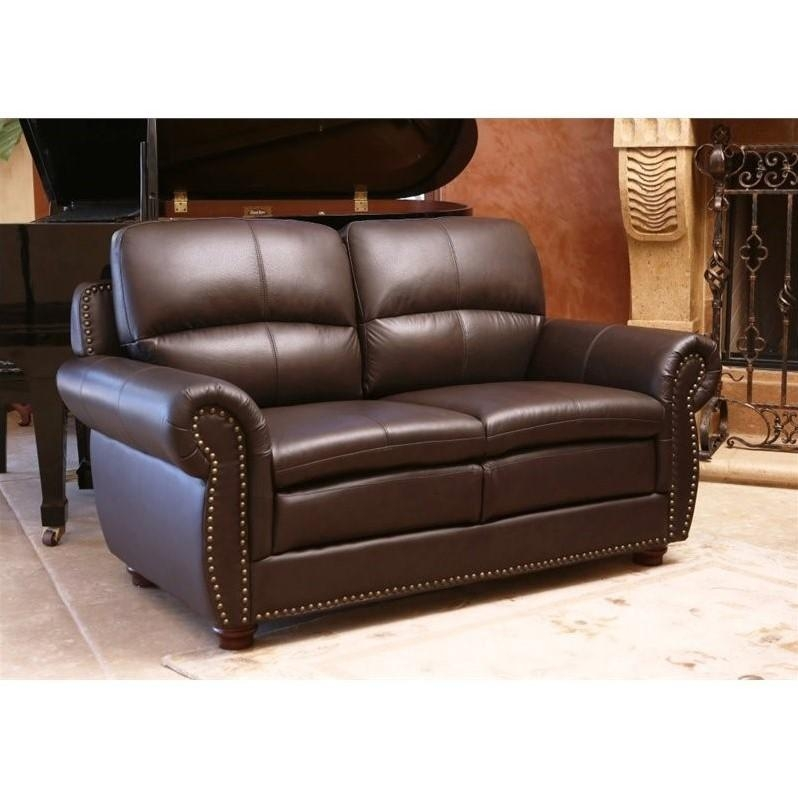 Abbyson Living Harrison 4 Piece Leather Sofa Set In Brown – Jc Within Abbyson Living Sofas (View 10 of 20)