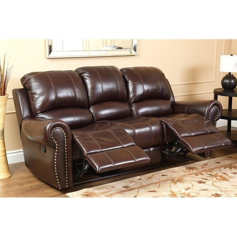 Abbyson Living Hogan Leather Reclining 2 Piece Sofa Set – Ch 8811 In Abbyson Sofas (Image 8 of 20)