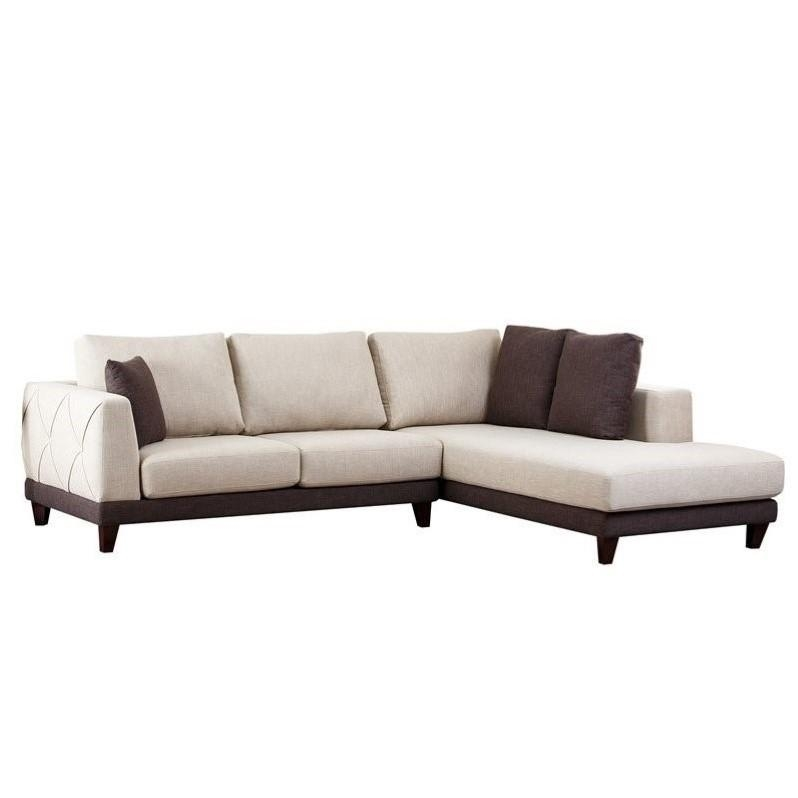 Abbyson Living Juliette Fabric Sectional Sofa In Cream – Rl 1312 Crm Inside Abbyson Living Sectional Sofas (Image 6 of 20)