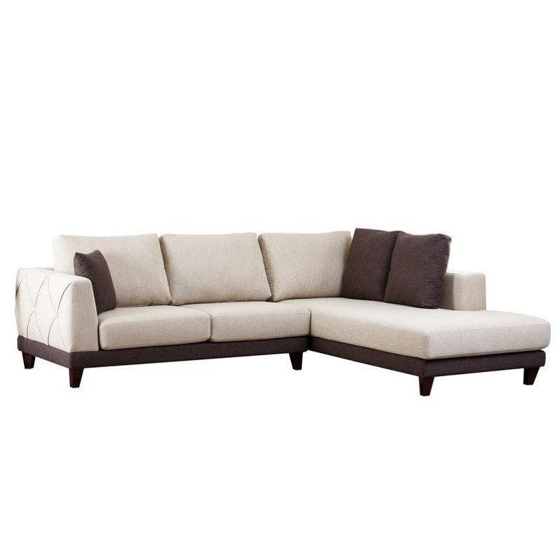Abbyson Living Juliette Fabric Sectional Sofa In Cream – Rl 1312 Crm Intended For Abbyson Sectional Sofas (View 3 of 20)