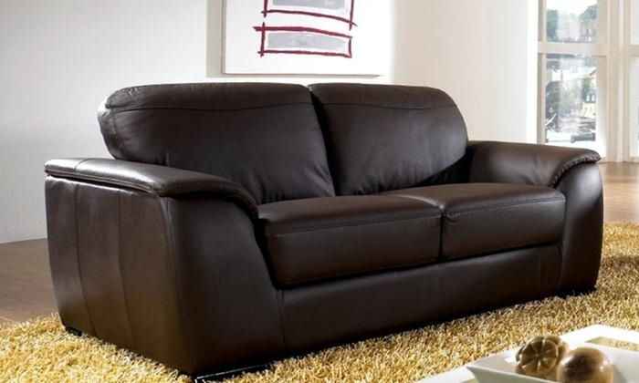 Abbyson Living Leather Sofas | Groupon Goods For Abbyson Sofas (Image 9 of 20)