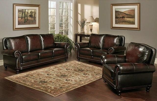 Abbyson Living Palermo Wood Trim Sofa – Contemporary – Living Room Pertaining To Abbyson Living Sofas (View 4 of 20)