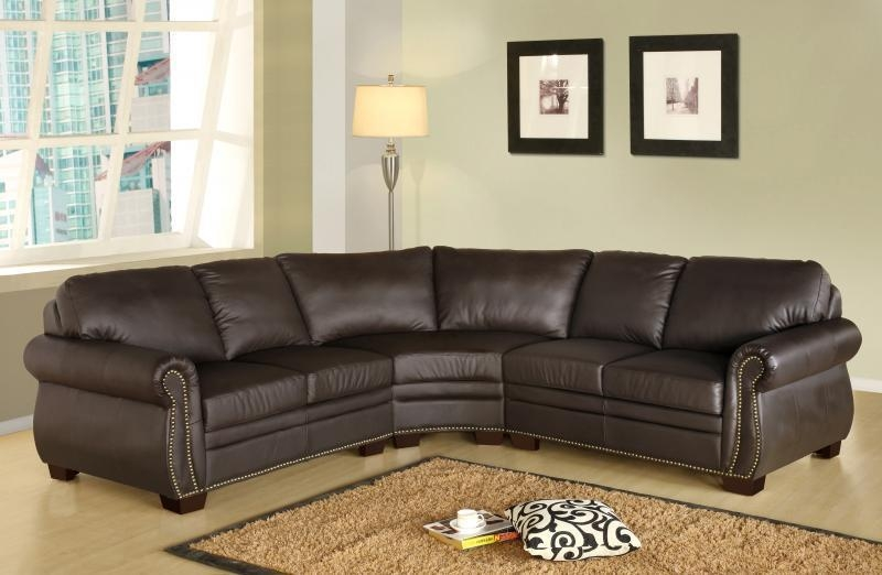 Abbyson Living Premium Italian Leather Sectional Sofaoj For Abbyson Sectional Sofas (Image 6 of 20)