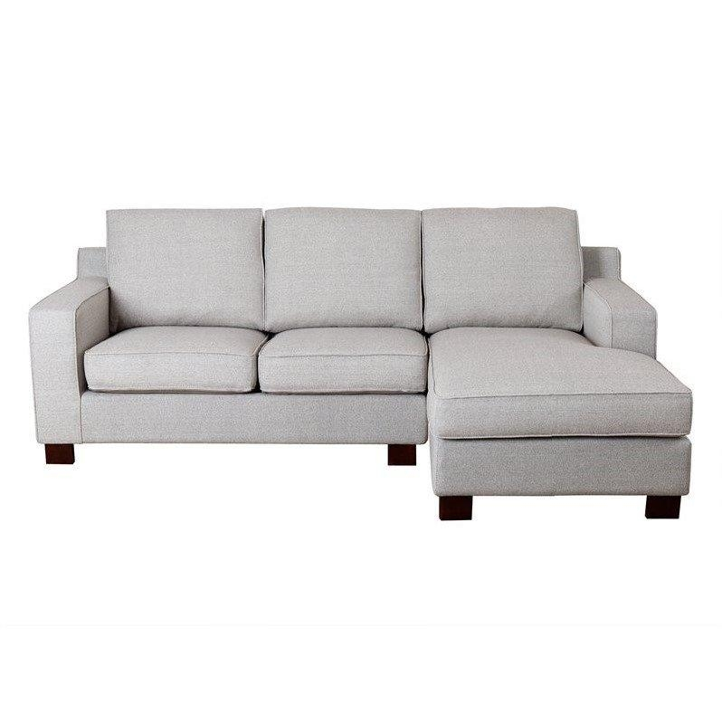 Abbyson Living Regina Fabric Sectional Sofa In Gray – Rl 1321 Gry Inside Abbyson Sectional Sofas (Image 7 of 20)