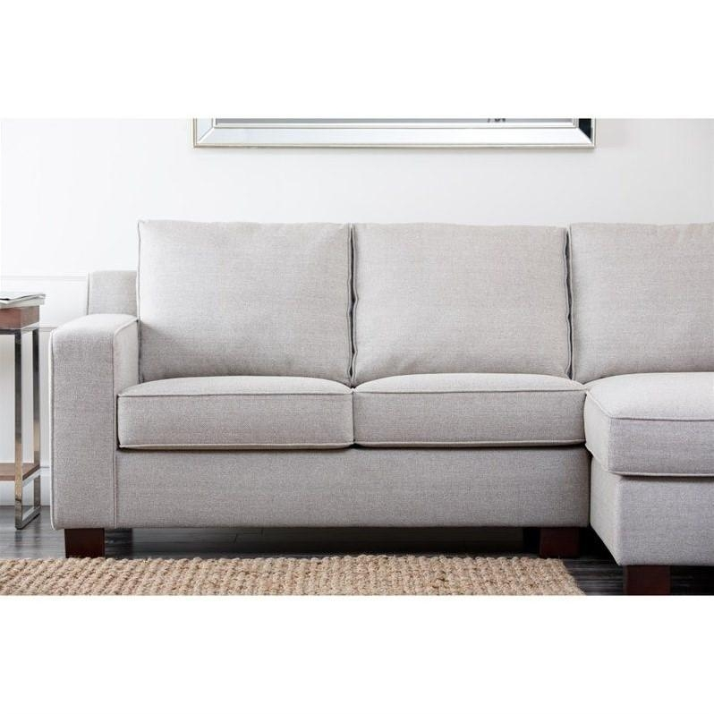 Abbyson Living Regina Fabric Sectional Sofa In Gray – Rl 1321 Gry Within Abbyson Living Sectional Sofas (Image 11 of 20)