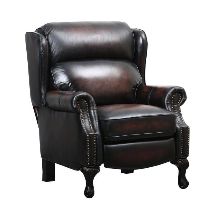 Abbyson Living Veda Hand Rubbed Leather Recliner In Brown – Cr Inside Abbyson Recliners (View 9 of 20)