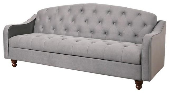 Abbyson Living Vera Storage Sleeper Sofa, Gray – Sleeper Sofas For Abbyson Sofas (View 11 of 20)