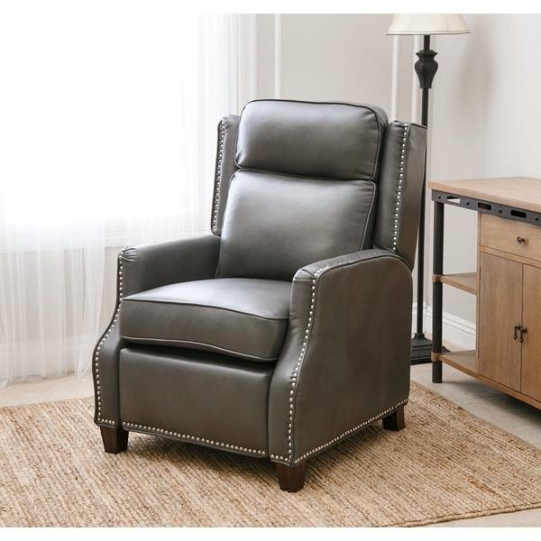Abbyson Richfield Pushback Leather Recliner – Free Shipping Today Pertaining To Abbyson Recliners (Image 15 of 20)