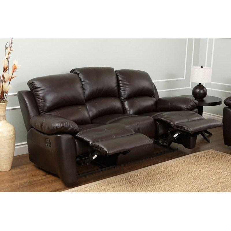 Abbyson Western Top Grain Leather Reclining Sofa – Brown | Hayneedle With Regard To Abbyson Sofas (Image 15 of 20)