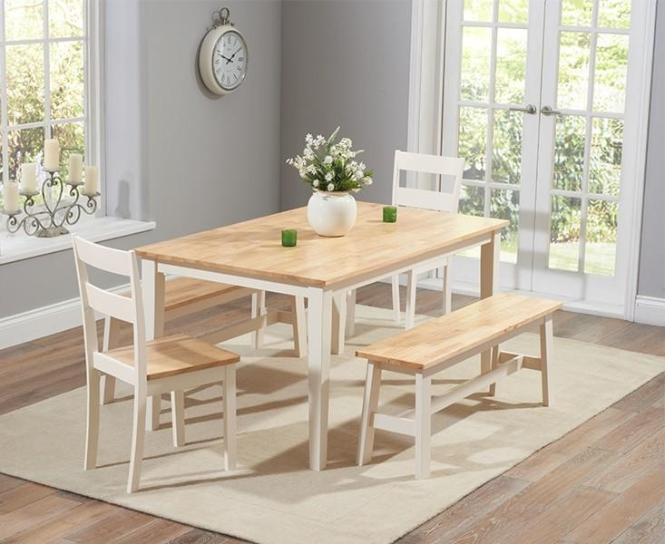Abdabs Furniture – Chichester 150 Cm Dining Table With 2 Dining Within Dining Tables And 2 Benches (Image 3 of 20)