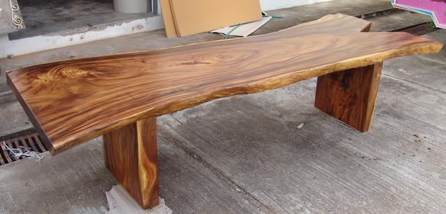Acacia Wood Dining Table – Gallery Image En (Image 4 of 20)