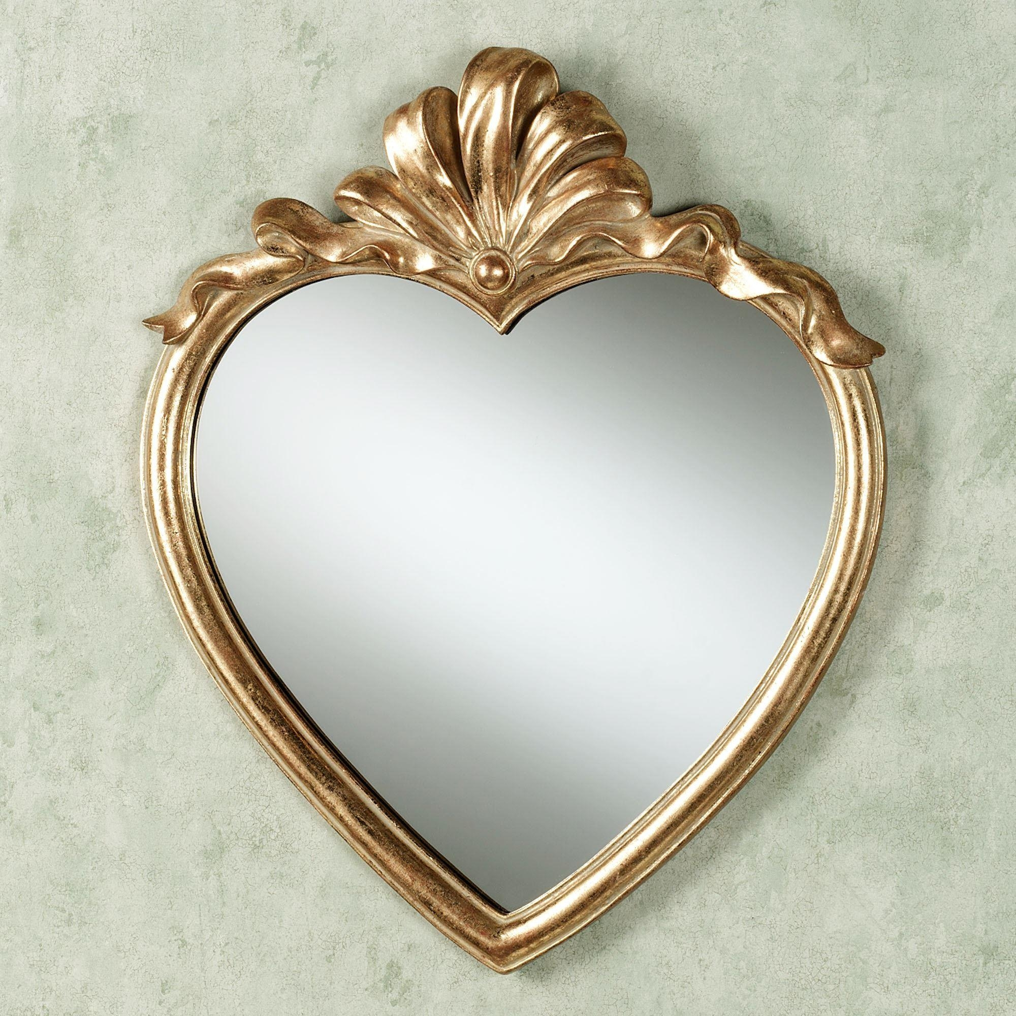 Featured Image of Gold Heart Mirror