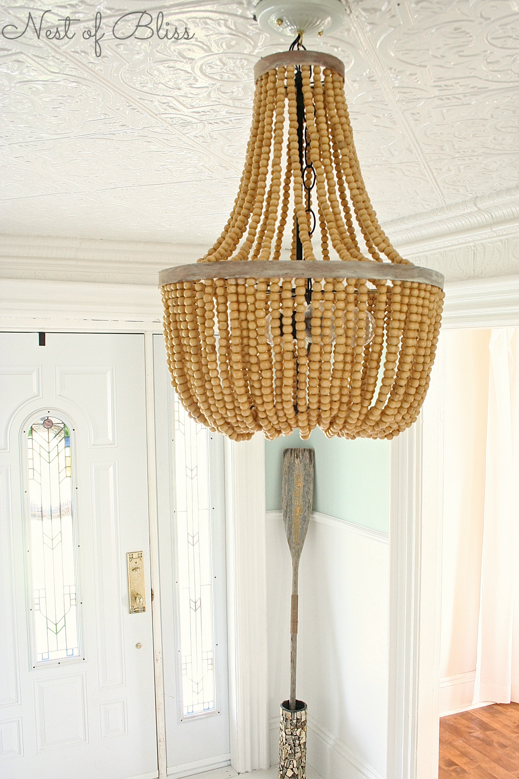 Accessories Wood Bead Chandelier For Lighting Interior Decoration In Turquoise Wood Bead Chandeliers (Image 2 of 25)