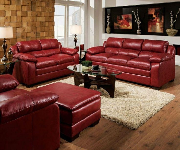 burgundy leather sofa set