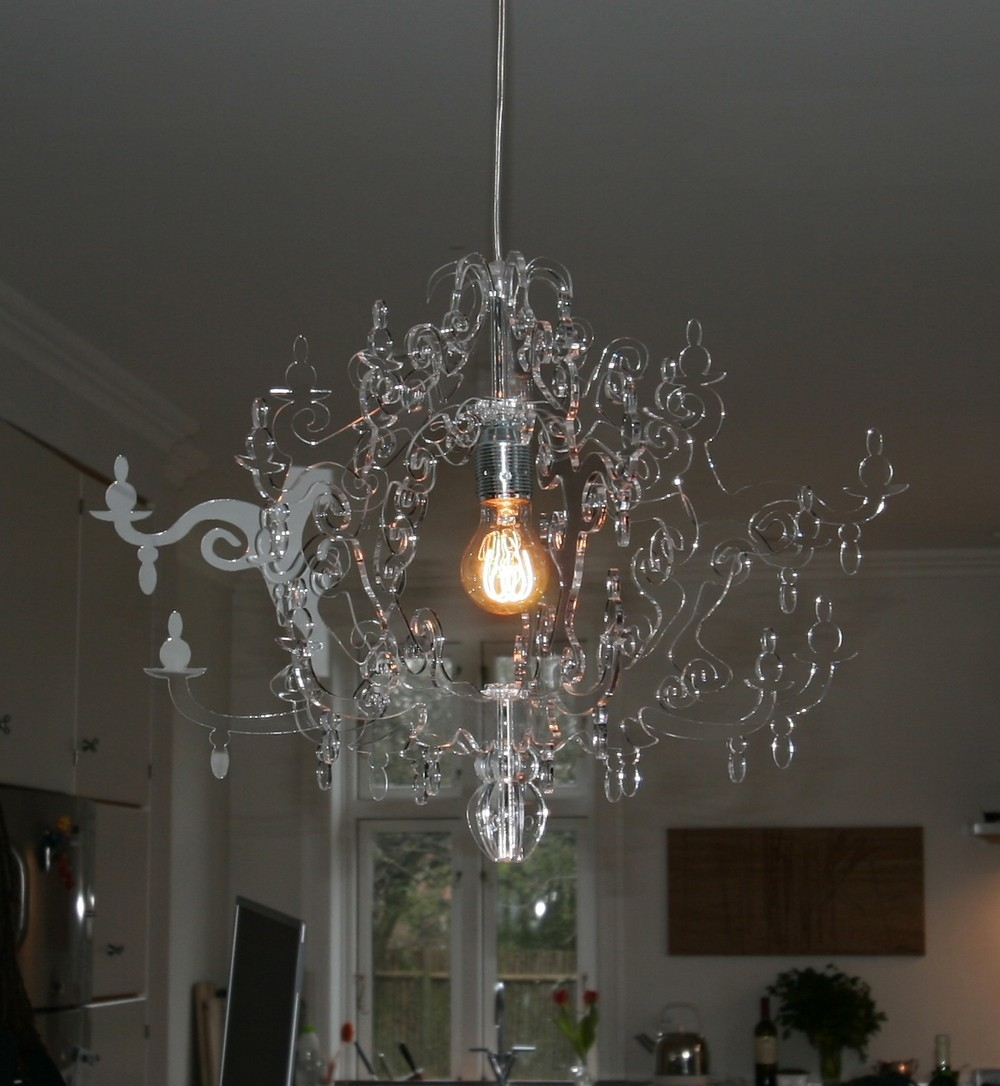 Acrylic Chandelier Home Designing Clean Acrylic Chandelier Throughout Acrylic Chandeliers (View 4 of 25)