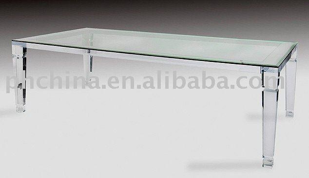 Acrylic Crystal Dining Table And Chairs, Acrylic Crystal Dining With Regard To Acrylic Dining Tables (Image 4 of 20)