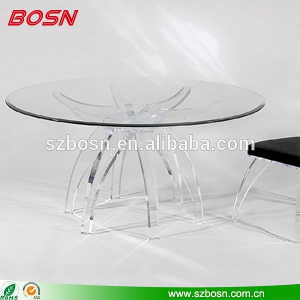 Acrylic Dining Table, Acrylic Dining Table Suppliers And Pertaining To Acrylic Round Dining Tables (Image 5 of 20)