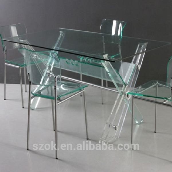 Acrylic Dining Table And Chairs, Acrylic Dining Table And Chairs Pertaining To Clear Plastic Dining Tables (Image 3 of 20)