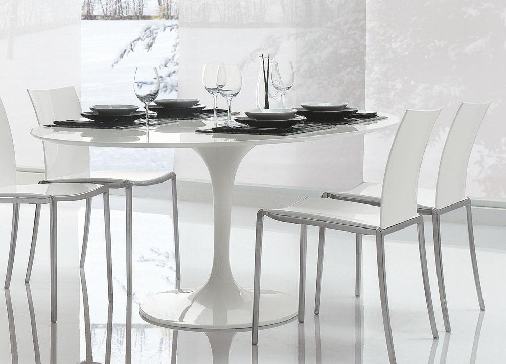 Acrylic Dining Table White (Image 5 of 20)