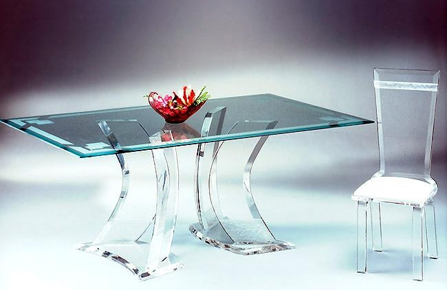 Acrylic Dining Tables : Acrylics Of Naples, Acrylic Furniture With Acrylic Dining Tables (Image 16 of 20)