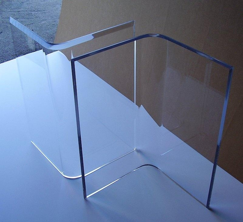 "Acrylic ""v's"" Or Boomerang Dining Table Bases (2) Clear Lucite Throughout Acrylic Dining Tables (Image 3 of 20)"