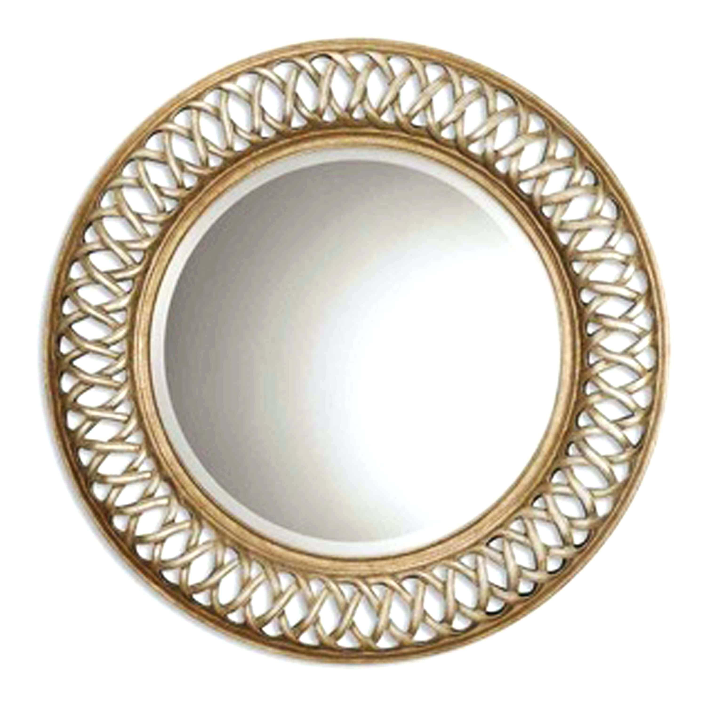 Adahra Large Round Silver Mirror 106 Cmebay Copper – Shopwiz Within Large Round Silver Mirror (Image 2 of 20)