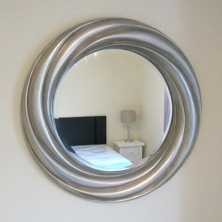Adahra Large Round Silver Mirror 106 Cmround Tray Uk – Shopwiz Throughout Large Round Silver Mirror (Image 3 of 20)