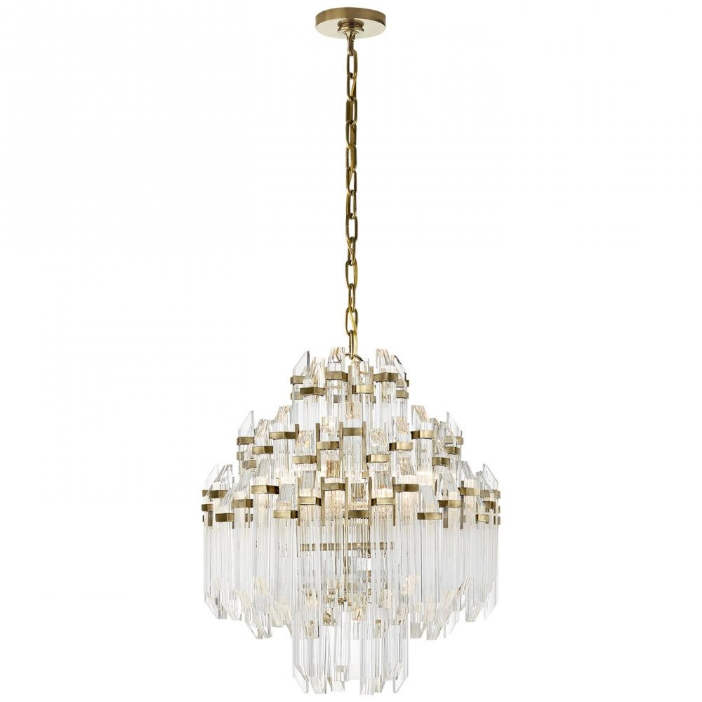 Adele Four Tier Waterfall Chandelier In Hand Rub Sk 5424hab Ca Within Waterfall Chandeliers (Image 3 of 25)