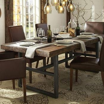 Aero Wood Top Round Metal Dining Table Regarding Phoenix Dining Tables (Image 3 of 20)