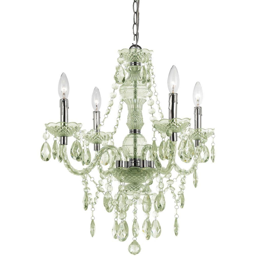 Af Lighting Naples 4 Light Chrome Mini Chandelier With Seafoam In 4 Light Chrome Crystal Chandeliers (Image 3 of 25)