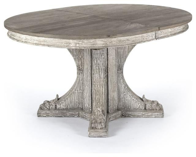 Agnes French Country Rustic Oval Extendable Dining Table With Regard To Oval Reclaimed Wood Dining Tables (View 3 of 20)