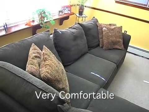Alan White 3 Piece Sectional Sofa With Chaise – Youtube Intended For Alan White Sofas (Image 4 of 20)