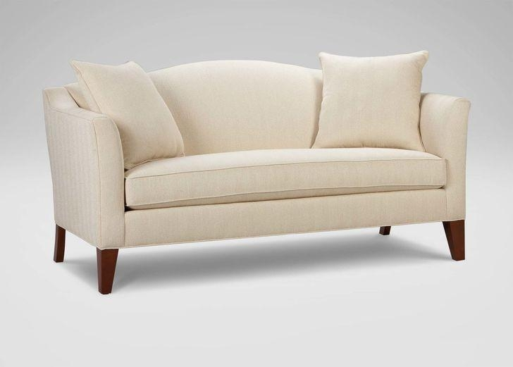 Alan White Loveseat Enchanting Ethan Allen Loveseats Polyurethane In Alan White Couches (Image 6 of 20)