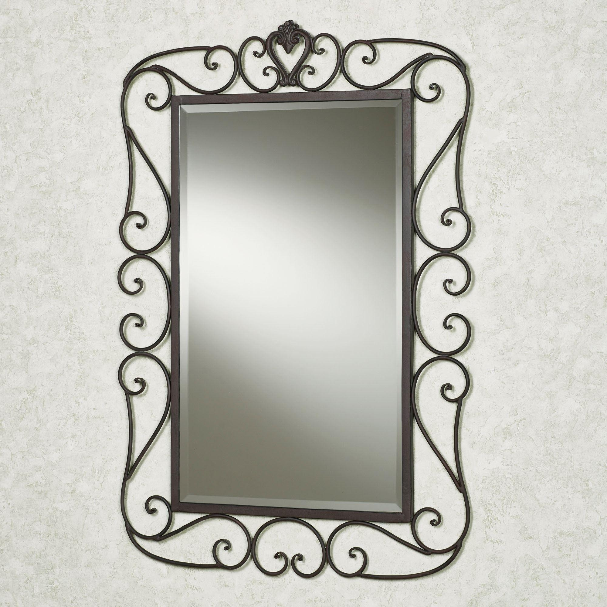 Aldabella Tuscan Slate Wrought Iron Wall Mirror Inside Rod Iron Mirrors (Image 4 of 20)