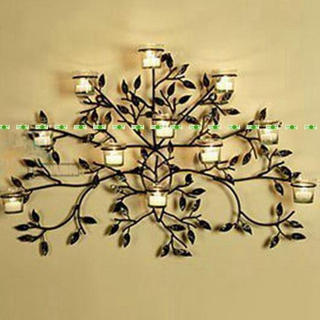 Aliexpress Buy 75cm Metal Wedding Home Office Furniture Pertaining To Wall Mounted Candle Chandeliers (Image 10 of 25)