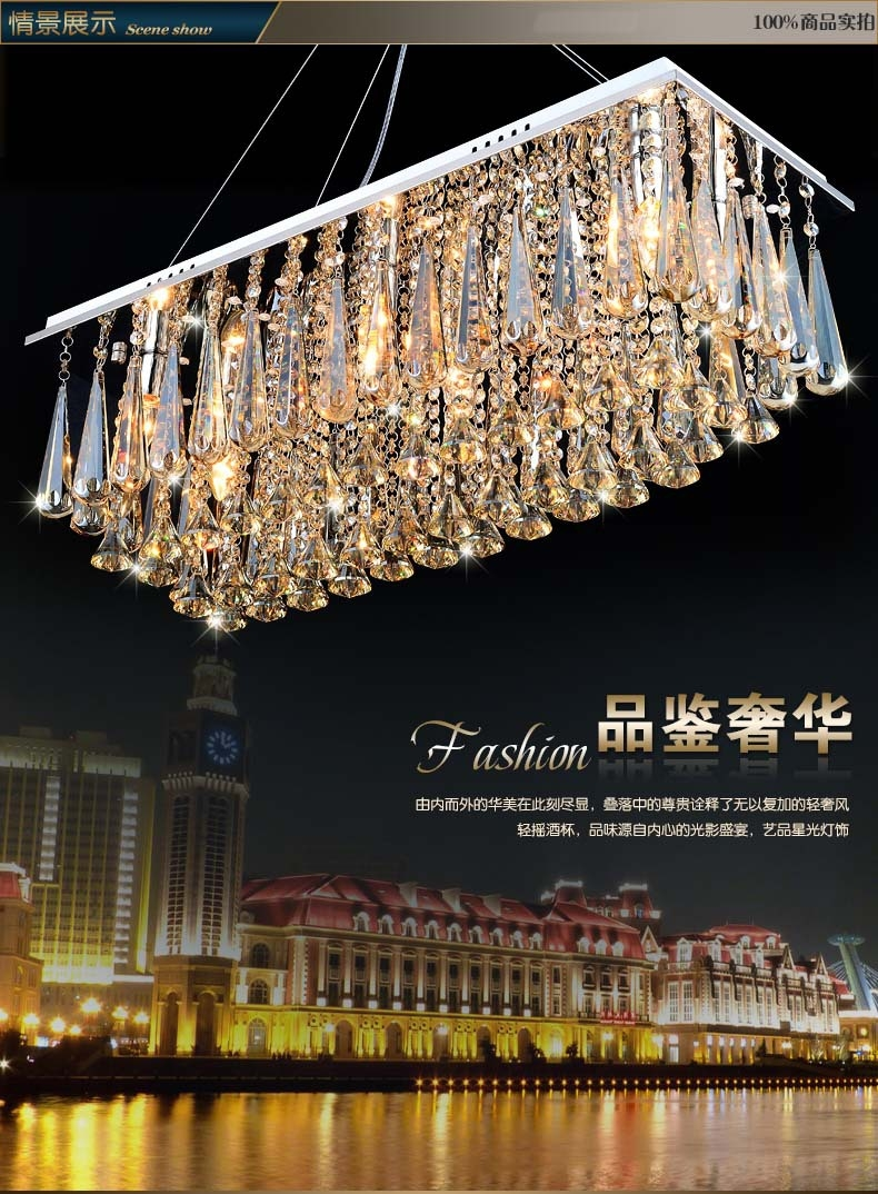 Aliexpress Buy Chandeliers Dining Room Rectangle Crystal Intended For Light Fitting Chandeliers (Image 2 of 25)