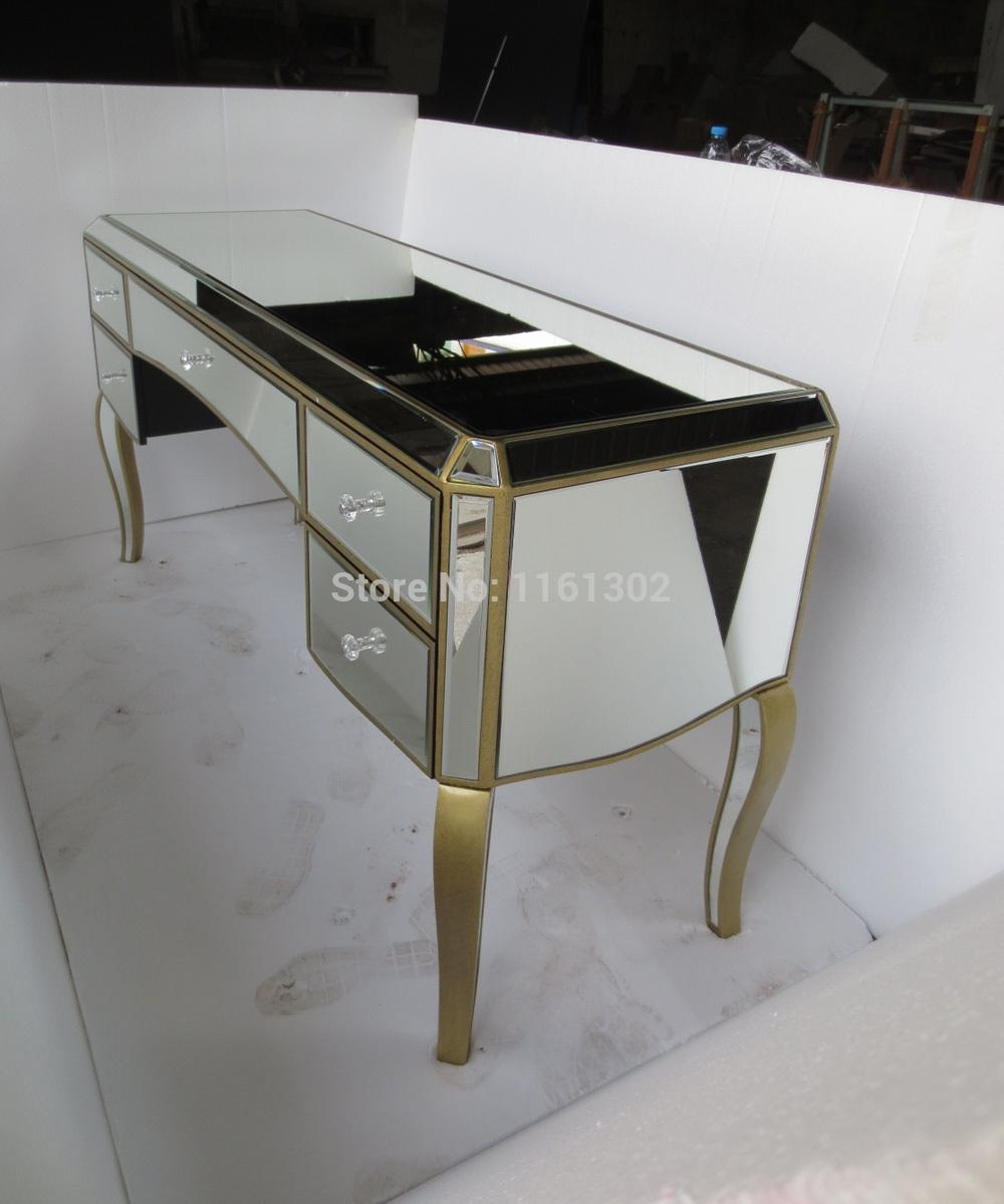 Aliexpress : Buy Mr 401051 Antique Gold Rimming Mirrored In Gold Dressing Table Mirror (Image 2 of 20)