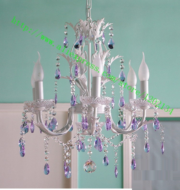 Aliexpress Buy Rustic Lamp Chandelier Lavender 3 5 6 8 Light Throughout Purple Crystal Chandeliers (Image 8 of 25)