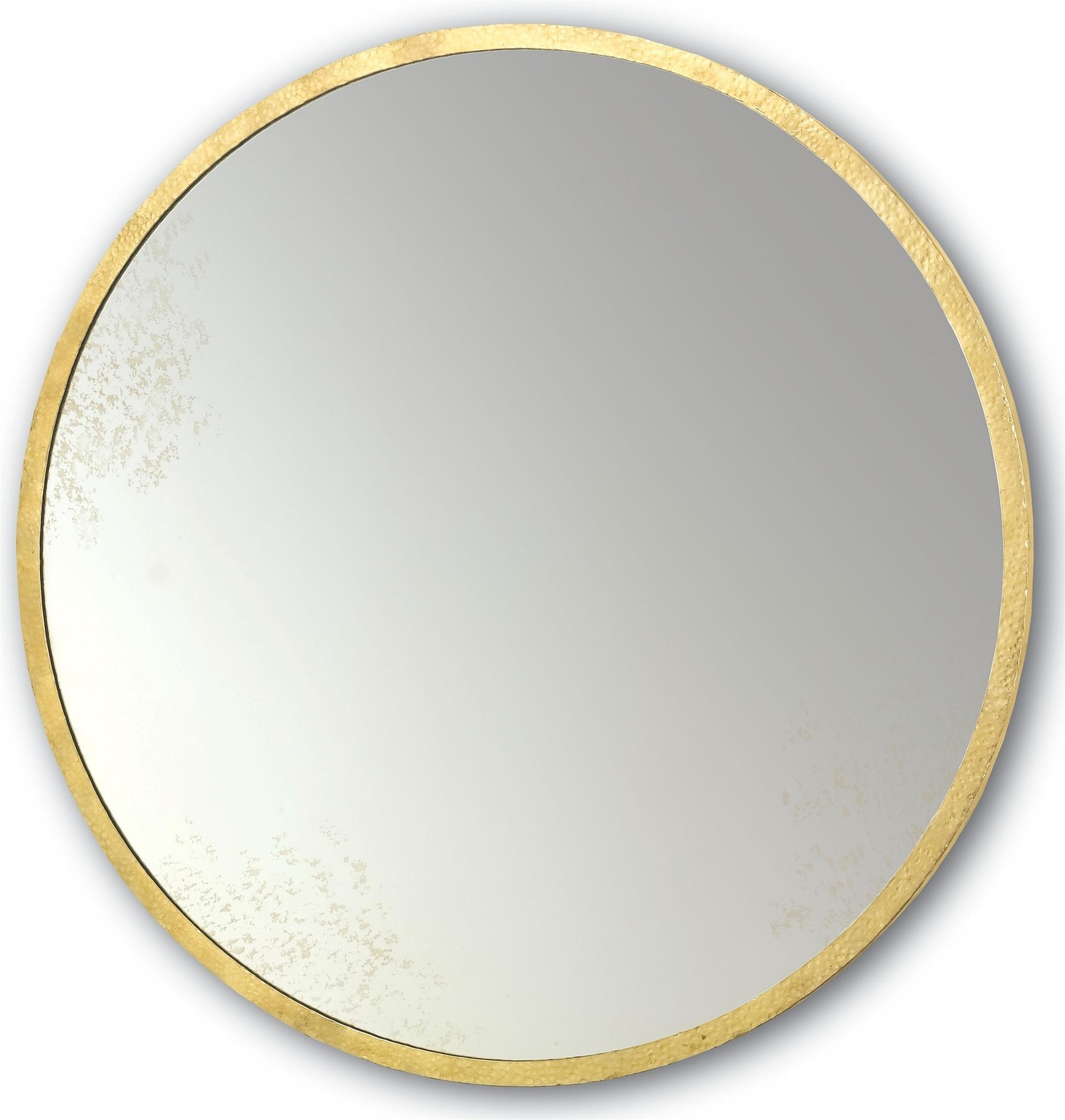 Aline Mirror | Currey & Company Inside Large Round Gold Mirror (Image 1 of 20)