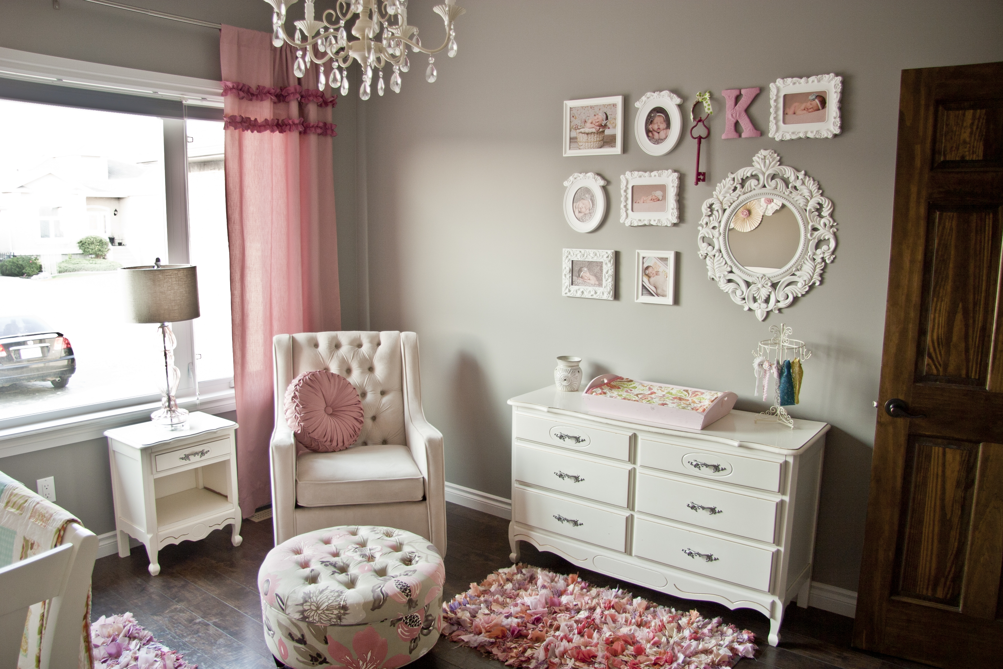 All Things Pink And Girly Finally Project Nursery For Chandeliers For Girl Nursery (View 14 of 25)