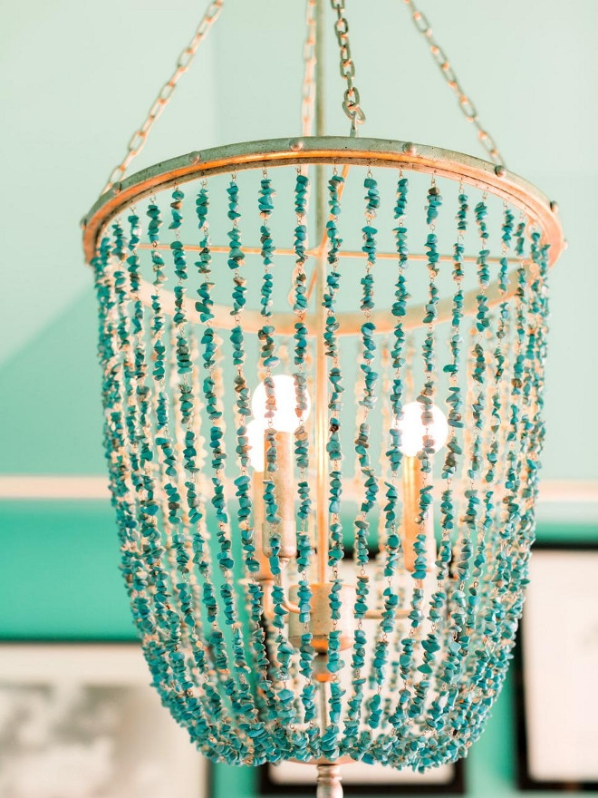 All You Need To Know About The New 2016 Hgtv Dream Home Home For Turquoise Beaded Chandelier Light Fixtures (Image 8 of 25)