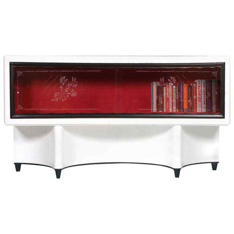 Amazing Best Art Deco TV Stands With Mid Century Modern Art Deco Vitrine Display Cabinet Tv Stand (Image 1 of 50)