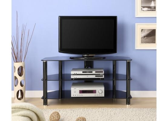 Amazing Best Black Glass TV Stands Regarding Innovex 42 In Black Glass Tv Stand Tc280g (View 38 of 50)