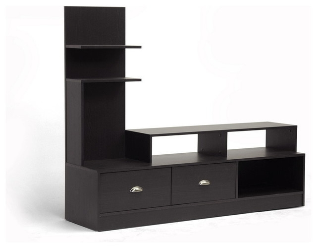 Amazing Best Contemporary Black TV Stands Inside Baxton Studio Armstrong Dark Brown Modern Tv Stand Contemporary (View 6 of 50)