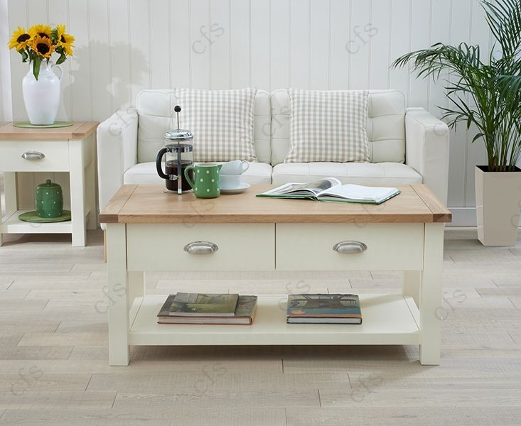 Featured Image of Cream And Oak Coffee Tables
