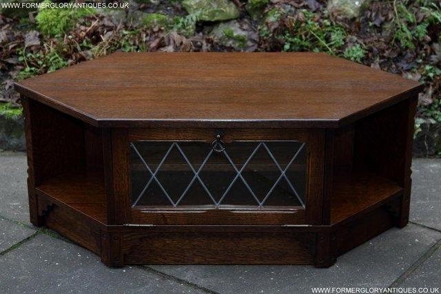 Amazing Best Dark Oak Corner TV Cabinets Within Dark Oak Tv Corner Unit Second Hand Household Furniture Buy And (View 24 of 50)