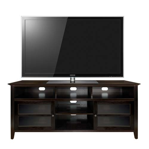 Amazing Best Dark Wood TV Cabinets In Bello No Tools Assembly 65 Inch Wood Tv Cabinet Dark Espresso (View 7 of 50)